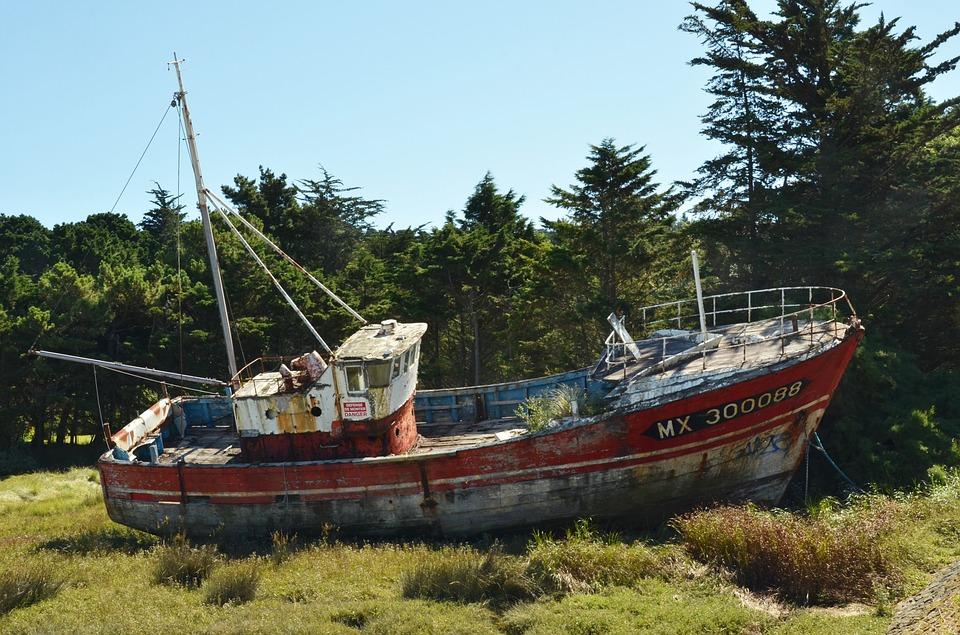 epave bateau bretagne plougasnou le diben